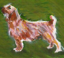 Basset Fauve de Bretagne Dog Portrait  by Oldetimemercan