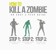How To: Kill A Zombie Men's Baseball ¾ T-Shirt