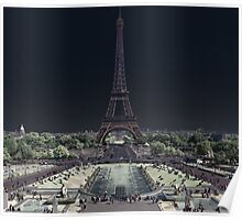 Eiffel Tower from Champ de Mars Poster