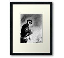 Gothic Gargoyle Perch Framed Print
