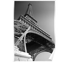 The Eiffel Tower (B&W) Poster