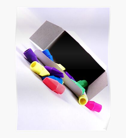 Erasers and the white box Poster