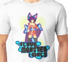 """Djenii """"i love monster girl"""" Unisex T-Shirt"""