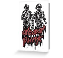 Dead Punk Greeting Card