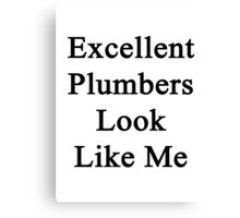 Excellent Plumbers Look Like Me  Canvas Print