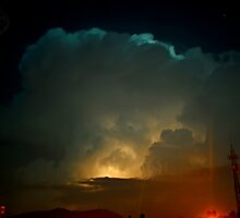 ©HCS Cumulonimbus Precipitatus At Night II by OmarHernandez