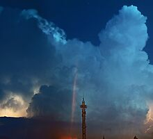 ©HCS Cumulonimbus Precipitatus At Night III by OmarHernandez