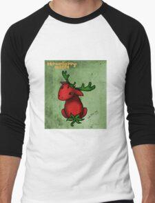 Strawberry Moose Men's Baseball ¾ T-Shirt