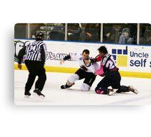 Hockey smash.............. Canvas Print