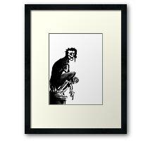 Gothic Gargoyle Perch (alpha background) Framed Print