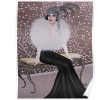 FASHIONABLE ART DECO LADY Poster
