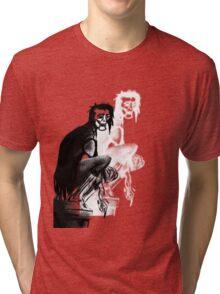 Gothic Gargoyle Perch (alpha with shadow) Tri-blend T-Shirt