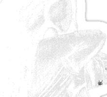Gothic Gargoyle Perch (full alpha in white) Sticker