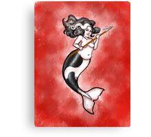 Orca Mermaid Canvas Print