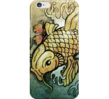koi fish and Hibiscus  iPhone Case/Skin