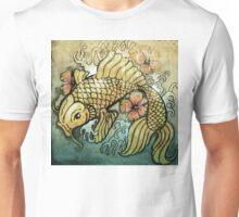koi fish and Hibiscus  Unisex T-Shirt