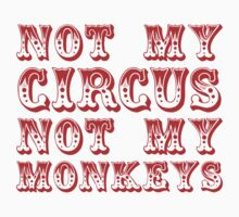 not my circus not my monkeys - all red Kids Clothes