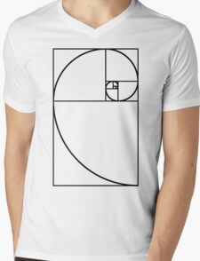 Golden Ratio - Transparent Mens V-Neck T-Shirt