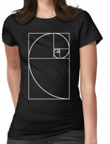 Golden Ratio - White  Womens Fitted T-Shirt