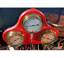Gauges On Red Photographic Print