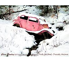 Pink Car Road - Prescott, Arizona Photographic Print