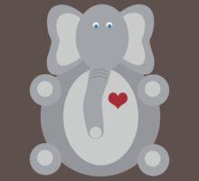 Elephant Love One Piece - Short Sleeve