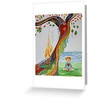 Live Love Yoga  Bear Meditation Greeting Card