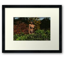 Elf Girl Primative Framed Print