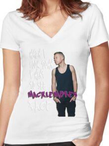 macklemore Women's Fitted V-Neck T-Shirt