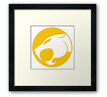 THUNDERCATS YELLOW Framed Print