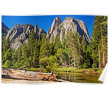 Cathedral Rocks Vista, Yosemite Valley, California, USA Poster