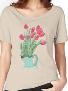 A pitcher of Tulips Women's Relaxed Fit T-Shirt