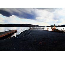 Storm Clouds Over the Boat Docks Photographic Print