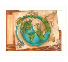 The Cartographer's Pet Art Print