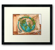The Cartographer's Pet Framed Print