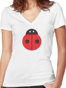 Ladybug Women's Fitted V-Neck T-Shirt