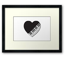 Piano Heart Framed Print