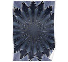 blue petal fixture Poster