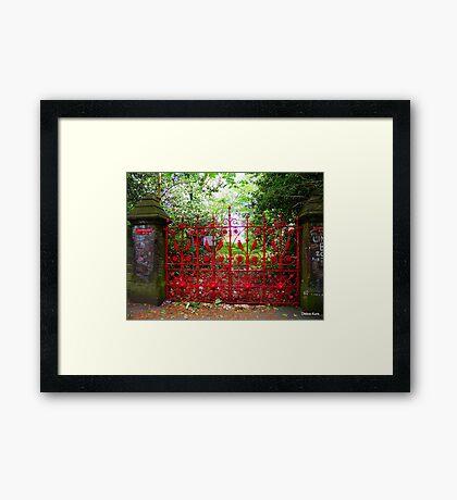 Strawberry Fields gates Framed Print