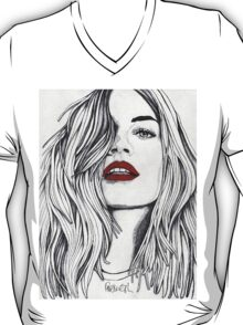 The Girl with the Red Lips T-Shirt