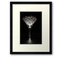 Diamond Martini Framed Print