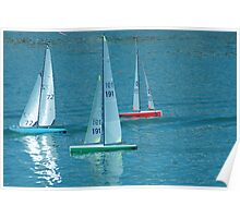 Remote control Yachts Poster