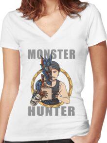 Hunter's Life (Matthew Custom) Women's Fitted V-Neck T-Shirt