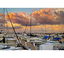 Sunset Marina Photographic Print