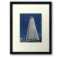 Skyscraper in White Framed Print