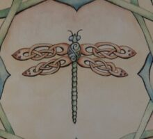 Celtic Dragonfly Sticker