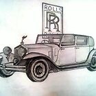 Rolls Royce (Original Art) by Pradeep Yadav