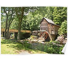 The Glade Creek Grist Mill Poster