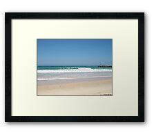 Calm Beach Framed Print