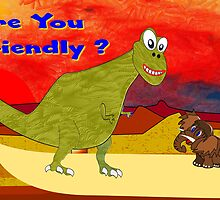 Are You Friendly greetings card by Dennis Melling